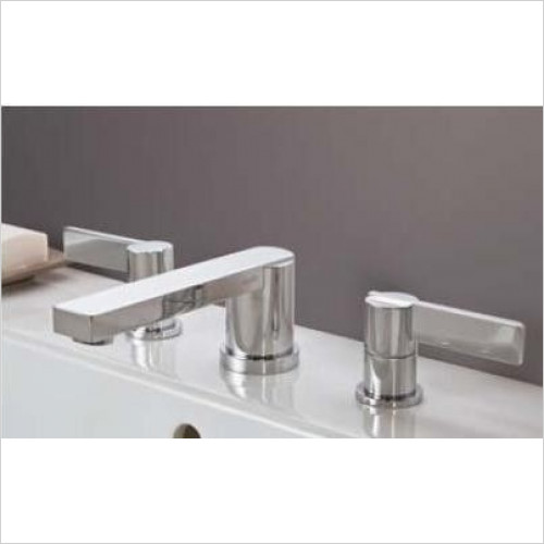 Matki - Blade Three Hole Basin & Bath Filler With 185mm Spout