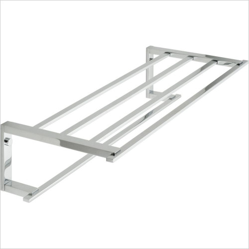 Vado - Level Towel Shelf With Towel Rail 550mm (22'') Wall Mounted