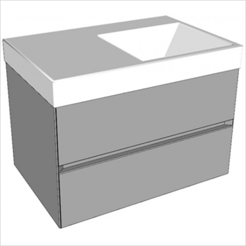 Catalano - Zero 75 2 Drawer Unit RH Glass Finish