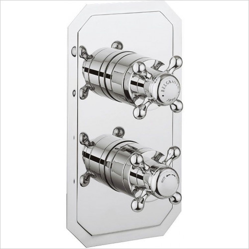Belgravia Thermo Shower Valve Slim Backplate