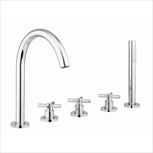 Crosswater - Totti II Bath 5 Hole Set With Kit