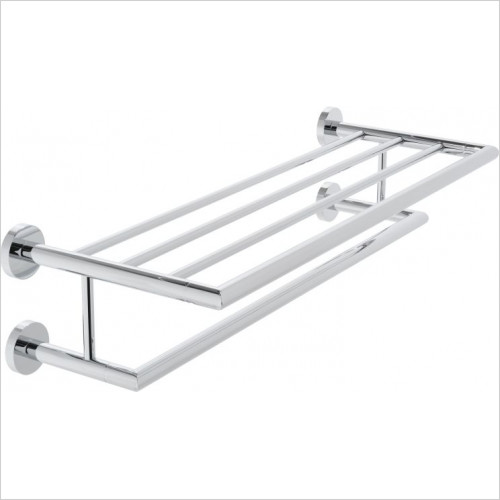 Vado - Spa Towel Shelf With Towel Rail 600mm (24'')
