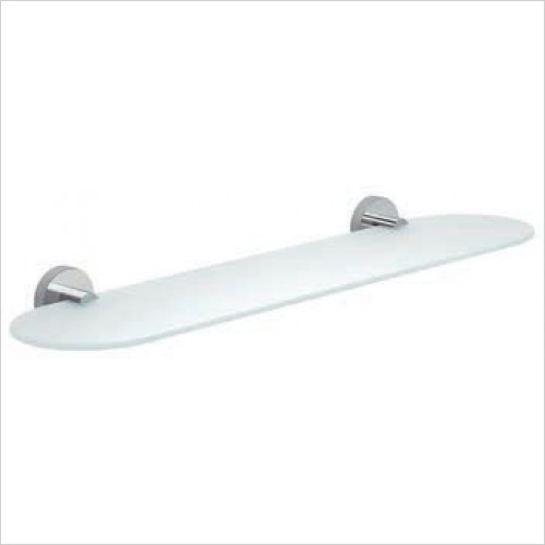 Bathroom Origins - Gedy Eros Glass Shelf 53cm