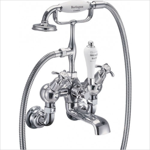 Burlington - Anglesey Regal QT Wall Angled Bath Shower Mixer
