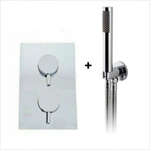Crosswater - Round 1 Way Concealed Thermostatic Valve Shower Hand Hose