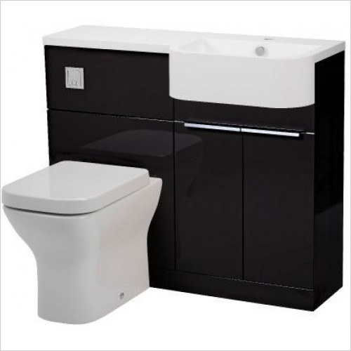 Tavistock Bathrooms - Match Semi-Countertop Back To Wall Unit 1000mm LH