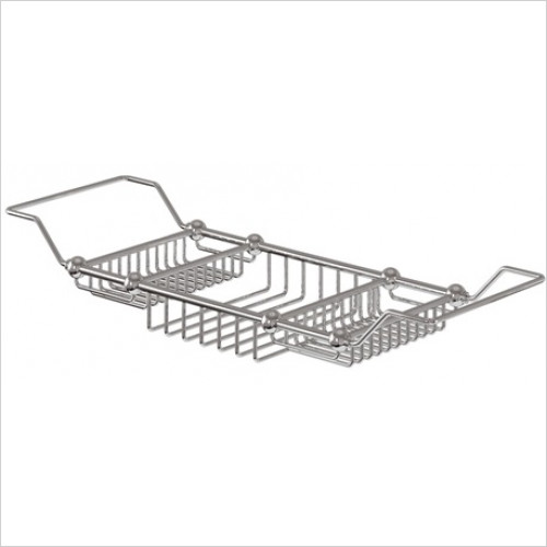 Burlington - Brass Extendable Bath Rack