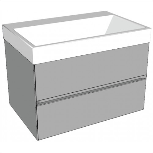 Catalano - Zero 75 2 Drawer Unit Glass Finish