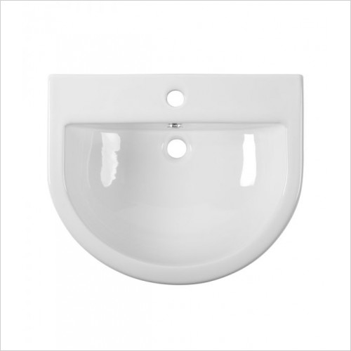 Tavistock Bathrooms - D-Shape 560mm Semi-Countertop Basin, Standard Depth