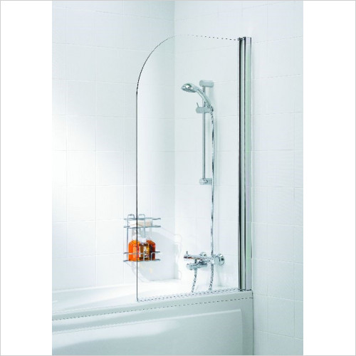 Lakes Bathooms - Classic Curved 8mm Bath Screen
