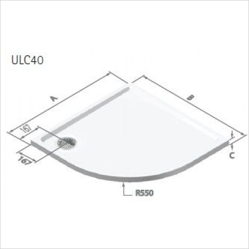Matki - Universal 40 Colour Tray 1200 x 900mm RH With Plinth