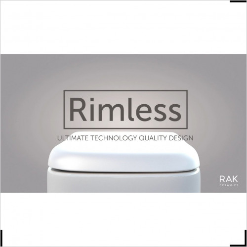 RAK Ceramics - Resort Rimless Back To Wall Pan Soft Close Seat