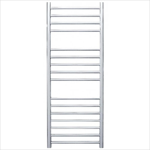 Steyning Cylindrical Electric Flat Front Towel Rail 1000x400