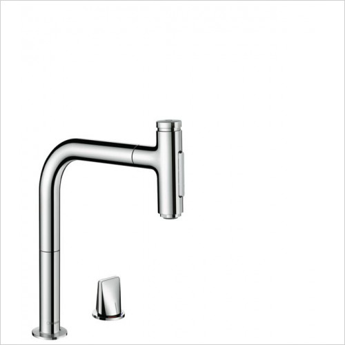 Hansgrohe - M7120-H200 - 2-Hole Single  Lvr Kitchen Mixer With P-O Spray