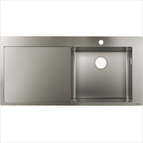 Hansgrohe - S715-F450 Built-In Sink 450 With Drainboard