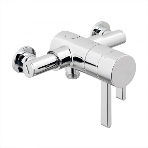 Vado - Exposed Thermostatic Mini Concentric Shower Valve 3/4''