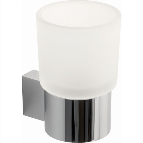 Vado - Infinity Frosted Glass Tumbler & Holder Wall Mounted
