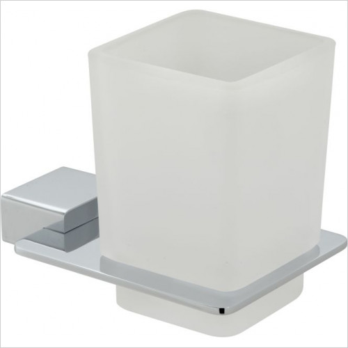 Vado - Phase Frosted Glass Tumbler & Holder Wall Mounted