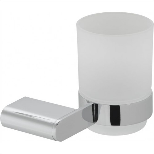 Vado - Photon Frosted Glass Tumbler & Holder Wall Mounted