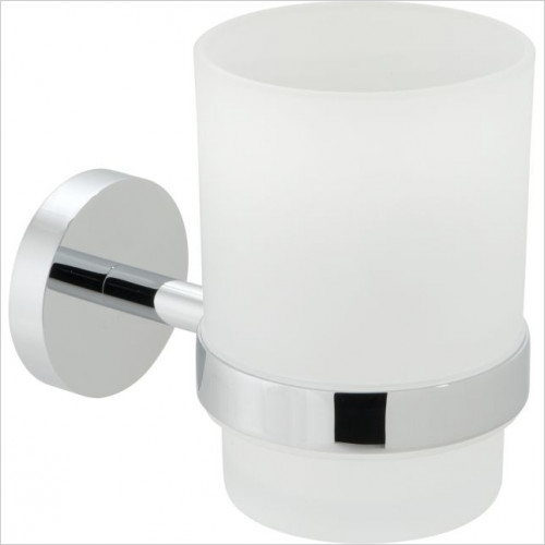 Vado - Spa Frosted Glass Tumbler & Holder Wall Mounted