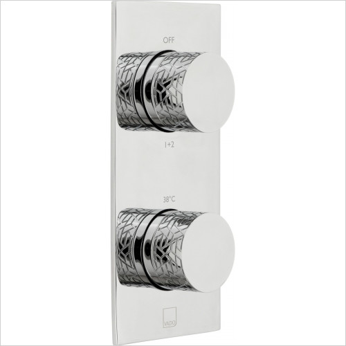 Omika 2 Outlet 2 Handle Vertical Tablet Thermostatic Valve