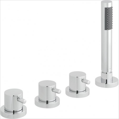 Zoo 4 Hole Bath Shower Mixer Deck Mounted