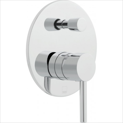 Vado - Zoo Round Concealed Single Lever Manual Valve & Diverter