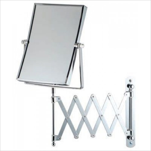 Bathroom Origins - Square Extendable Mag Wall Mirror