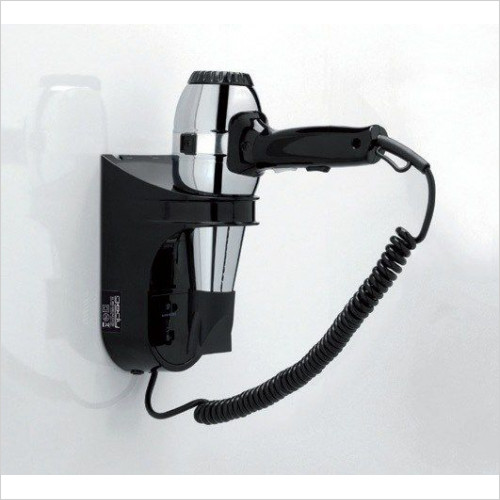 Bathroom Origins - Gedy Hotellerie Grecale Hair Dryer With Shaver Socket