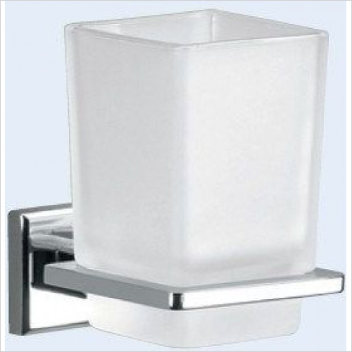 Bathroom Origins - Gedy Colorado Glass Tumbler Holder