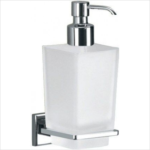 Bathroom Origins - Gedy Colorado Glass Soap Dispenser