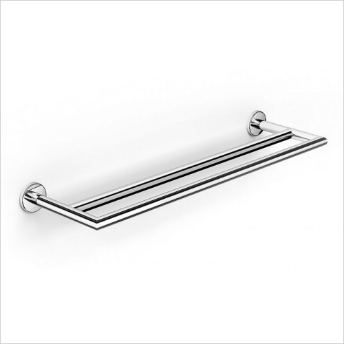 Bathroom Origins - Urban Steel Double Towel Rail 60cm