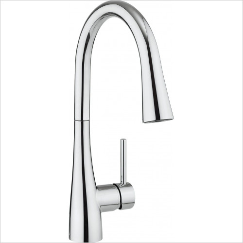 Crosswater - Cook Side Lever Kitchen Mixer With Concealed Dual Spray