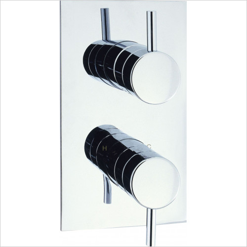 Kai Lever Single Outlet Thermostatic Shower Valve, Portrait