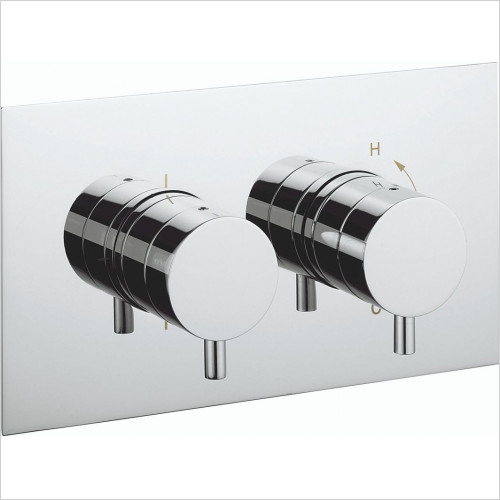 Kai Lever Thermostatic Shower Valve With 2 Way Diverter