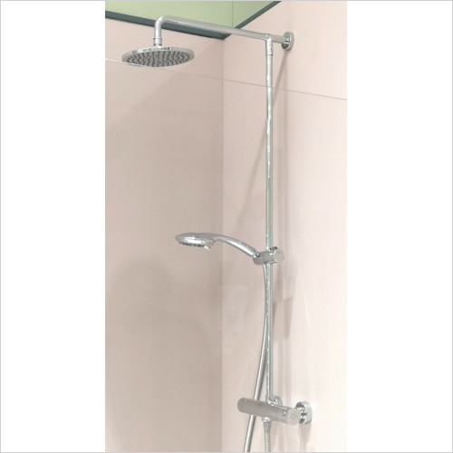 Crosswater - Fusion Thermostatic Exposed Shower Valve 200 Over Head