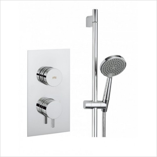 Crosswater - Dial Thermostatic Valve 1 Control With Kai Lever Trim