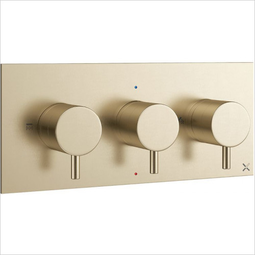 Crosswater - MPRO Thermostatic Valve 2 Outlet - Landscape