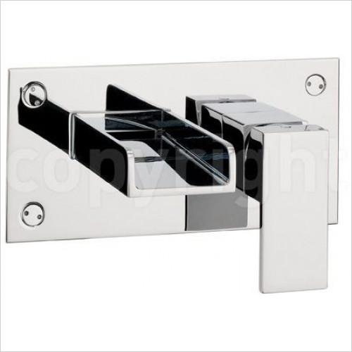 Crosswater - Water Square Basin 2 Hole Set, Wall Mounted