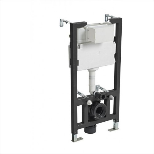 1m Wall Hung Frame - 6/3L Excluding Flush Plate
