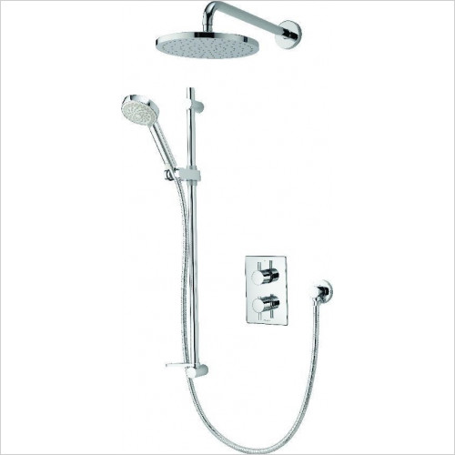 Aqualisa - Dream DCV Divert Mix Shower With Adj & Wall Fix Drench Heads