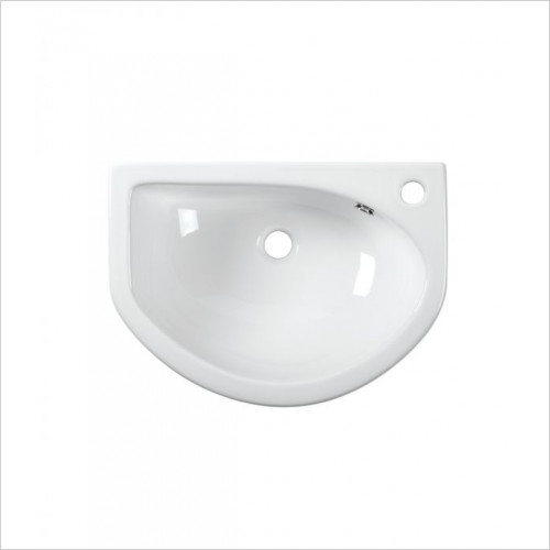Tavistock Bathrooms - D-Shape 540mm Semi-Countertop Basin, Slim Depth