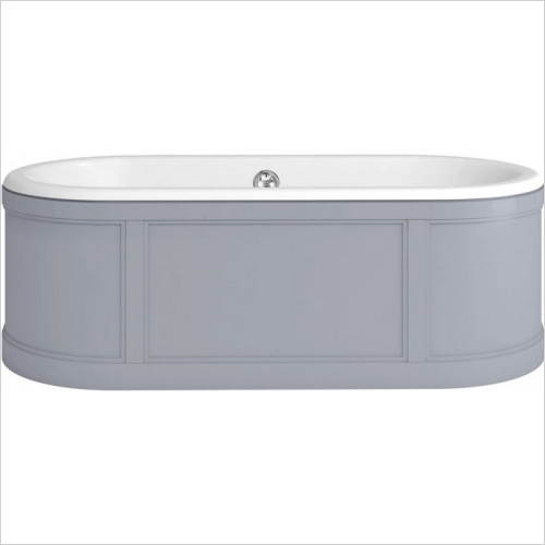 Burlington - London Surround Bath With Light Grey Panels Includes Waste