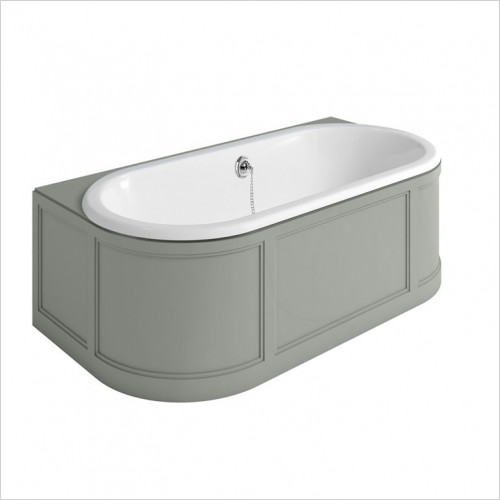 Burlington - London Back To Wall Bath With Light Grey Panels