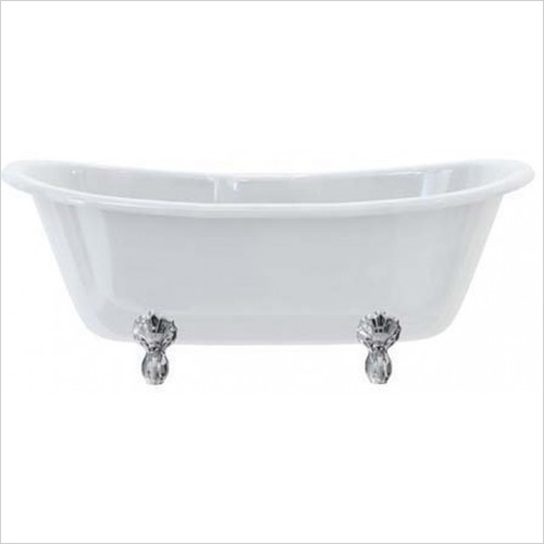 Burlington - Bateau Double Ended Bath 164 x 72H x 70cm Excludes Feet