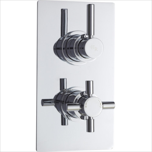 Hudson Reed - Tec Pura Twin Thermostatic Shower Valve