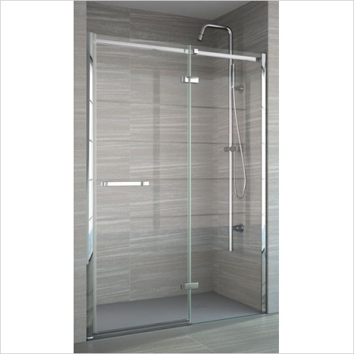 8 Series Frameless Hinge & Inline Incl MStone Tray 1400mm