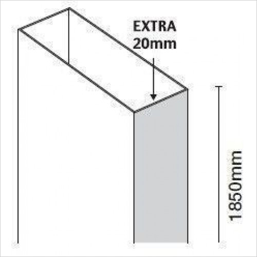 Merlyn - 10 Series Extension Profile For Quadrant 20mm