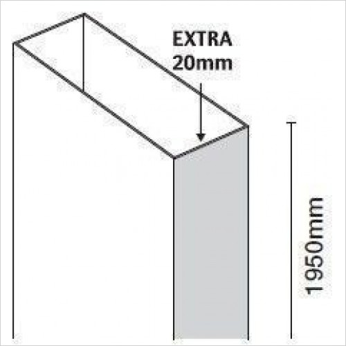 Merlyn - 10 Series Extension Profile 20mm