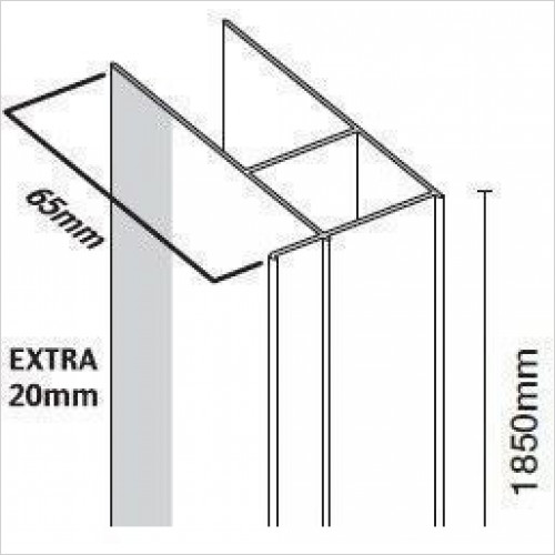 Merlyn - 6 Series Extension Profile 20mm
